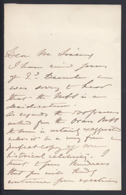 Sir Richard Francis Burton Signed Autograph Letter 1886 British Explorer Author